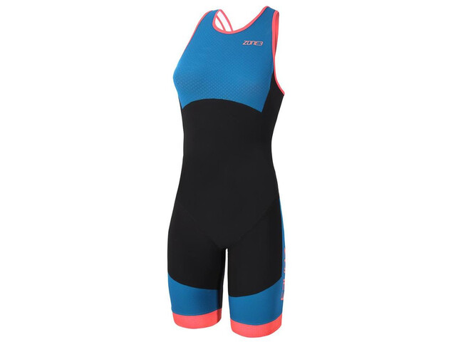 Zone3 Aeroforce Swimback Style ITU Design Traje Triatlón Mujer, black/teal/coral